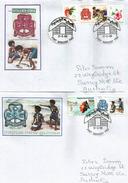 PAPOUASIE.Girl Guides Scouts (cinquantenaire De Leur Foundation En Papouasie) Deux Lettres Spéciales Adressées Australie - Papouasie-Nouvelle-Guinée