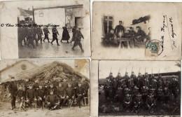 127 EME REGIMENT - VALENCIENNES ROUBAIX ET AUTRES - PERIODE WWI ET AVANT - NORD - LOT DE 5 CARTES PHOTOS MILITAIRES - War 1914-18