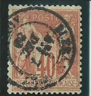 FRANCE: Obl., N°70, Bien Centré, AB - 1876-1878 Sage (Type I)