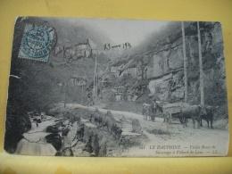 38 B8248 - 38 VIEILLE ROUTE DE SASSENAGE A VILLARD DE LANS - 1906 - ANIMATION ATTELAGE - France