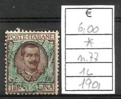 1901 EFFIGE LIRE 1 Nuovo * MLH - Nuovi