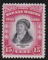 San  Marino     .   Yvert     196            .        *               .          Mint-hinged - San Marino