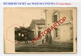 Cinema-REMBERCOURT SUR MAD-Kommandantur-3x Cartes Photos Allemandes-Guerre 14-18-1 WK-Militaria-France-54-Feldpost - Autres Communes