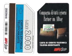 SCHEDA TELEFONICA USATA BILINGUE Compagna Di Tutti I Giorni AA20 -  AV1 - Italia
