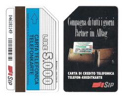 SCHEDA TELEFONICA USATA BILINGUE Compagna Di Tutti I Giorni AA21 -  AV1 - Italia