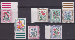 ANDORRA Andorre 1964-71 Taxes YT 46 52 Various Flowers  MNH** Luxe - Plants