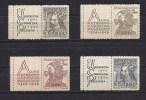 CSSR Tschechoslowakei  Czechoslovakia 1948 MNH ** Mi 535-538 Zf L Sc 346-349 C. 600th Year Charles University In Prague. - Unused Stamps