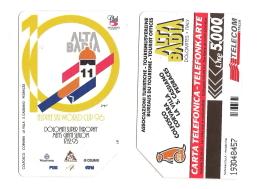 SCHEDA TELEFONICA USATA BILINGUE Alta Badia AA52 -  AV1 - Italia