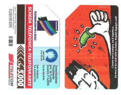 SCHEDA TELEFONICA USATA BILINGUE Lotta All'AIDS AA56 -  AV1 - Italien