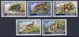 MDA-BK2-476 MINT POSTFRIS ¤ DAHOMEY 1968 5w In Serie ¤  MAMMALS OF THE WORLD - DIFF. ANIMALS - Gibier