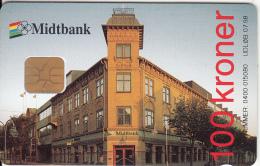 DENMARK - Midtbank, Danmont Telecard 100 Kr., Tirage 1047, Exp.date 07/98, Used - Danimarca