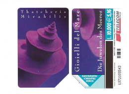 SCHEDA TELEFONICA USATA BILINGUE Gioielli Mare Thatcheria Mirabilis AA88 -  AV2 - Italia