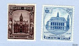 Exposition Philatélique De Charleroi Et Borgerhout, 436 / 437**, Cote 120 €, - Belgique