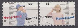 Pays-Bas 1989  Mi.nr: 1364-1365 Europa  Oblitérés / Used / Gest. - Periode 1980-... (Beatrix)