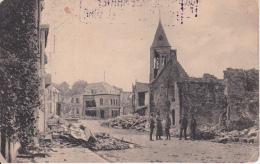 AK Vailly-sur-Aisne - Ruinen Kirche - Feldpost Pion. Batl. 27 - 1917   (25045) - Soissons