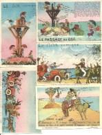 Vendee, Noirmoutier, Le Passage Du Goa, Comique    (bon Etat) Lot De 5 Cartes. - Noirmoutier
