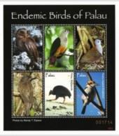 PALAU SHEET BIRDS OISEAUX OWLS HIBOUX - Unclassified