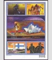 PALAU SHEET JEUX OLYMPIQUES OLYMPIC GAMES SPORTS 2000 - Zomer 2000: Sydney