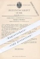 Original Patent - Joseph Wolf In Schwenningen , 1880 , Türschloss , Türschlösser , Tür , Schloss , Schlösser , Schlosser - Historical Documents