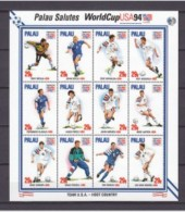 PALAU SHEET WORLD CUP USA 94 SPORTS SOCCER FOOTBALL COUPE DU MONDE - Coupe Du Monde