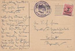 INFLA DR 309 W A EF, Auf PK Des Provinzialschulkollegiums, Mit Masch.-Stempel: Magdeburg 16.10.1923 - Deutschland