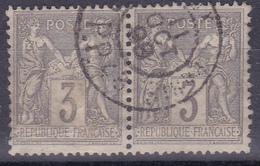 FRANCE 1877-80 Sage YT 87 Used Very Nice Pair - 1876-1898 Sage (Type II)