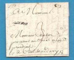 Aude - Carcassonne Pour Castelnaudary. 1758 - Marcofilie (Brieven)