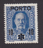 Austria, Scott #J60, Mint Hinged, Austrian Stamps Surcharged, Issued 1917 - Taxe