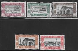 Libya, Scott # B5-9 Mint Hinged First Sample Fair, Tripoli, 1927 - Libya