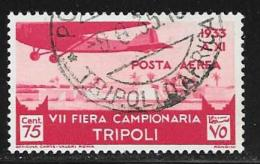Libya, Scott # C9 Used Plane Over Tagiura,1933 - Libya
