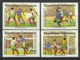 GABON 1989  WORLD CUP FOOTBALL SET MNH - Fussball