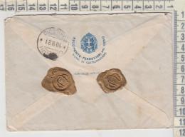 REGNO STORIA POSTALE 1931 BUSTA REGGIMENTO FERROVIERI DEL GENIO CON CERA LACCA CASTEL MAGGIORE BOLOGNA / AGRIGENTO - Storia Postale