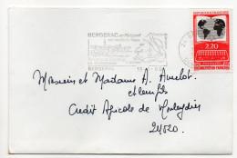 """1986--tp"""" Documentation Française """" Seul Sur Lettre- Flamme BERGERAC-24 - Storia Postale"""