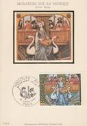 FRANCIA - Cartolina E Francobollo FDC Dedicati Ad Una Miniatura Sulla Musica - FDC 13/01/1979 - Cartoline Maximum