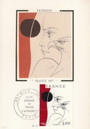 "FRANCIA - Cartolina E Francobollo FDC Dedicati All'opera ""France 1977"" - FDC 17/09/1977 - Cartoline Maximum"