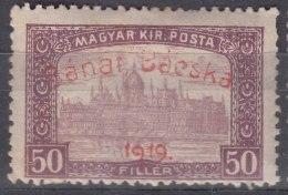 Hungary Banat Bacska 1919 Mi#12 Mint Hinged - Banat-Bacska