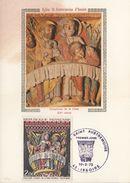 FRANCIA - Cartolina E Francobollo FDC Dedicati Alla Chiesa Di St.Austremoine D'Issoire - FDC  10/02/1973 - Cartoline Maximum
