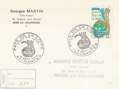 FRANCIA - Cartolina Commemorativa Con Francobollo FDC Dedicata Ai Paesi Delle Loira - FDC 06/09/1975 - Cartoline Maximum