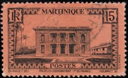 MARTINIQUE - Scott #139 Government Palace, Fort-de-France / Used Stamp - Used Stamps
