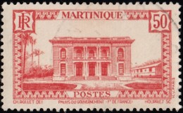MARTINIQUE - Scott #148 Government Palace, Fort-de-France / Used Stamp - Used Stamps