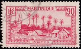 MARTINIQUE - Scott #155 Government Palace, Fort-de-France / Used Stamp - Used Stamps