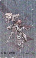 Carte Prépayée Japon ARGENT - MANGA  - METAL GEAR - ANIME Japan Prepaid Movie SILVER Card - Tosho Karte - 7169 - Cine