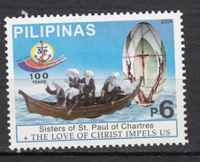 ##18, Philippines, Soeurs De Saint-Paul De Chartres, Crucifix, Bateau, Boat, Vitraux, Vitrail, Glass, Ancre, Anchor - Glas & Fenster