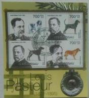 GUINE BISSAU SHEET USED LOUIS PASTEUR DOGS CHEMISTS - Louis Pasteur