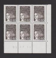 FRANCE / 1997 / Y&T N° 3086 ** : Luquet 0.10F Bistre-noir X 6 En Coin Daté 1998 07 01 ( ) - 1990-1999