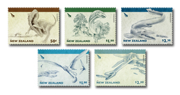 New Zealand 2010 Set/5 Dinosaurs Prehistoric #2293-7 - New Zealand