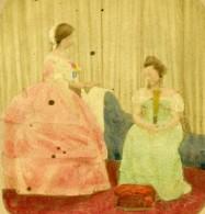 Royaume Uni Scene De Genre Fantaisie Photographique Ancienne Photo Stereo Colorisé 1865 - Stereoscopic