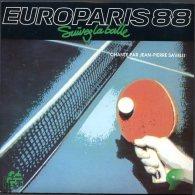 FRANCE 1988 - EUROPARIS Tennis Table - Chts Europe - Disque 45 Tours Officiel - Tischtennis Tavolo - Ediciones Limitadas