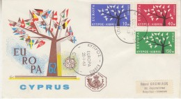 Europa Cept 1962 Cyprus 3v FDC (F15688 - 1962