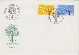 Europa Cept 1962 Switzerland 2v FDC (F5688B) - 1962
